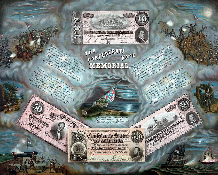 Civil War Painting - The Confederate Note Memorial  by War Is Hell Store