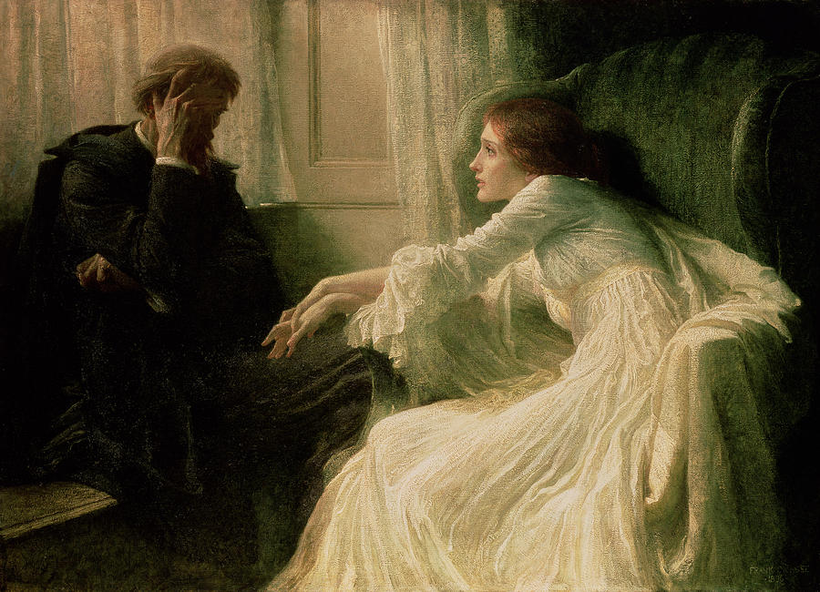 The Painting - The Confession by Sir Frank Dicksee