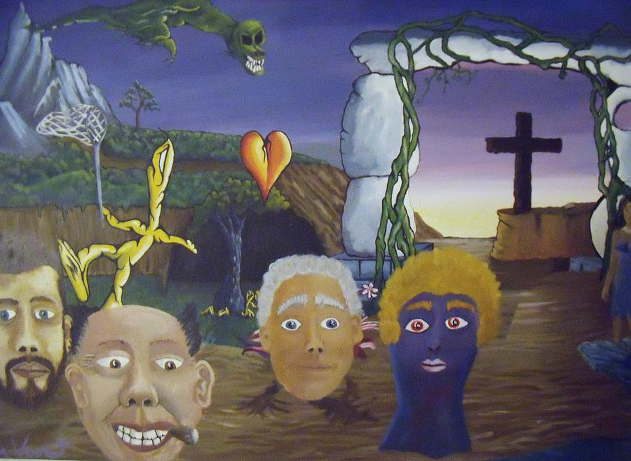Surreal Landscape Mixed Media - The Congregation by Troy Van voorst