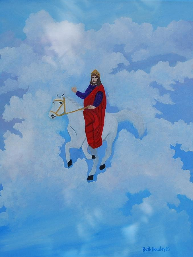 Biblical Painting - The Conqueror And King by Ruth  Housley