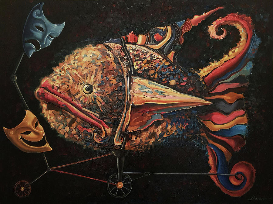 Surrealism Painting - The conquerors intrigue by Darwin Leon