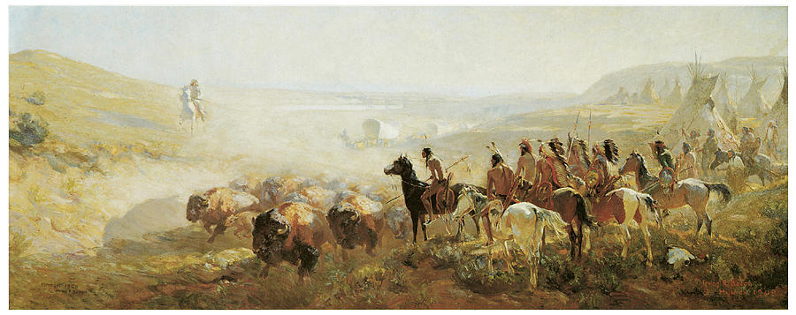 Bacon Painting - The Conquest Of The Prairie by Irving R Bacon