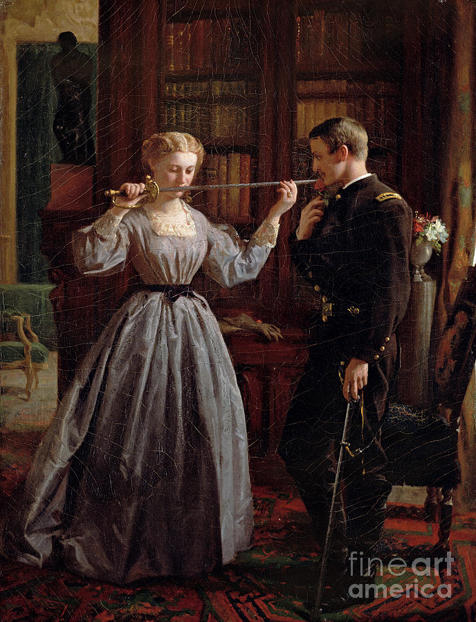War Of Northern Aggression Painting - The Consecration by George Cochran