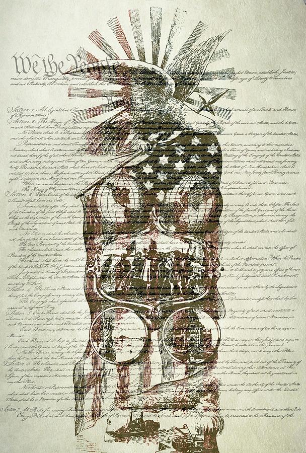 The Constitution Digital Art - The Constitution Of The United States Of America by Dan Sproul