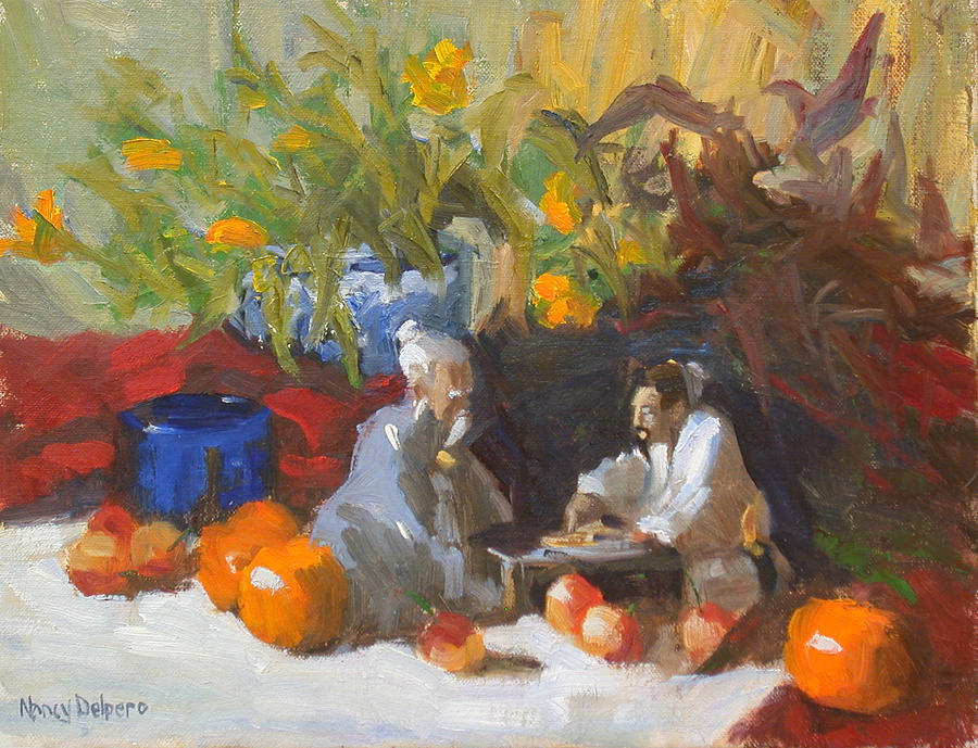 Still Life Painting - The conversation by Nancy Delpero