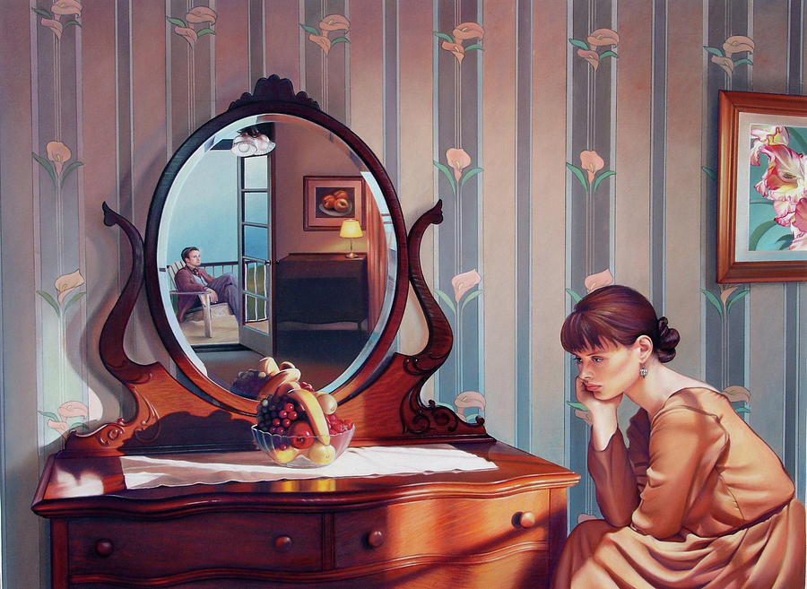 Mirror Painting - The Conversation by Patrick Anthony Pierson