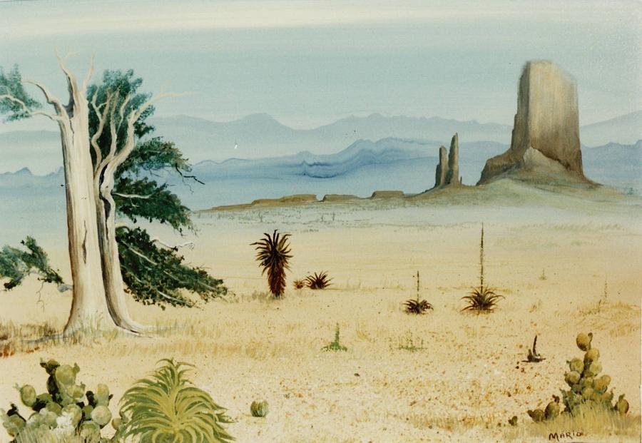 Landscape Painting - The Cool Desert by Mario Robles