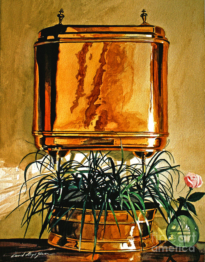 Still Life Painting - The Copper Lavabo by David Lloyd Glover