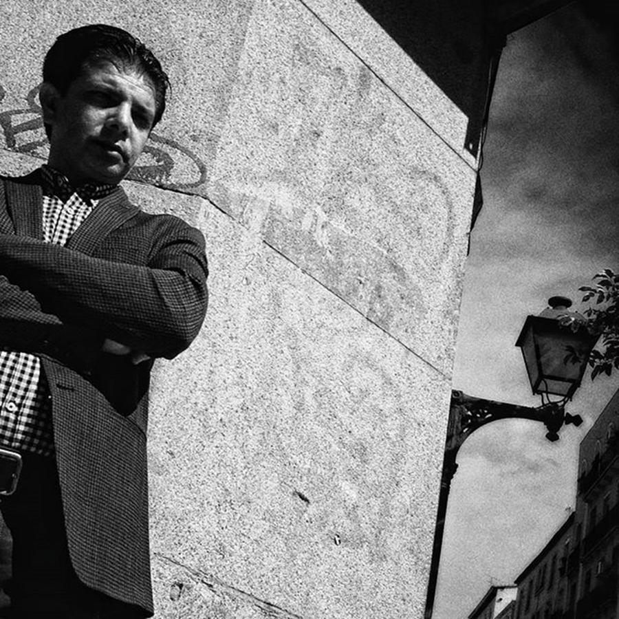 Man Photograph - The Corner Man #streetphotography by Rafa Rivas