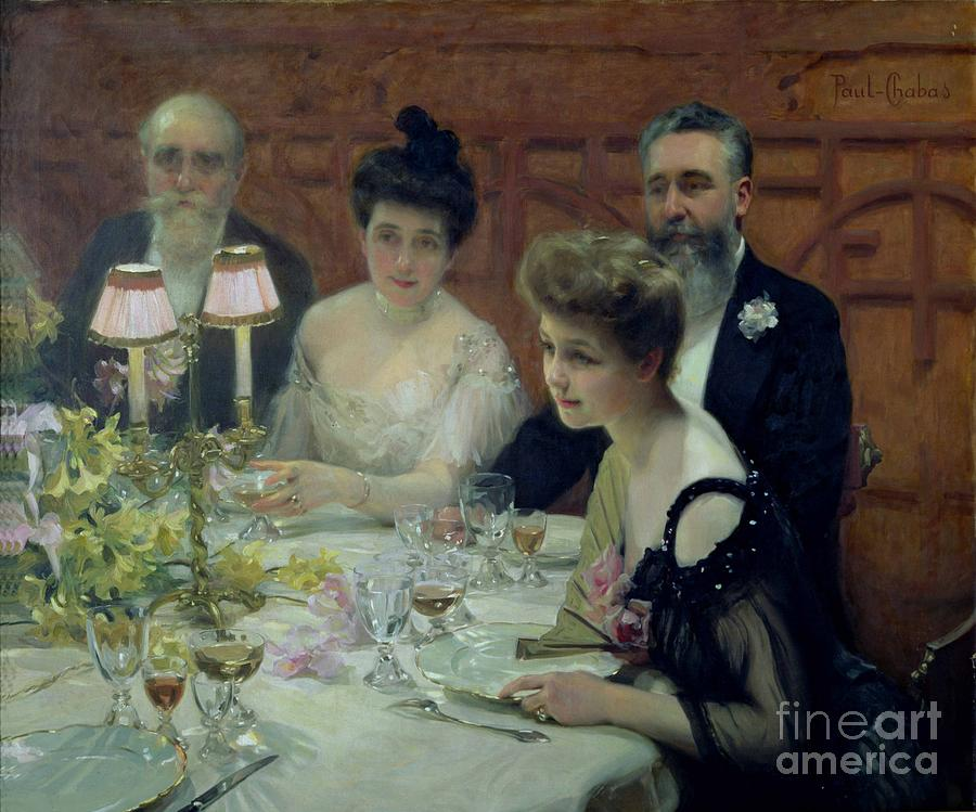 The Painting - The Corner Of The Table by Paul Chabas