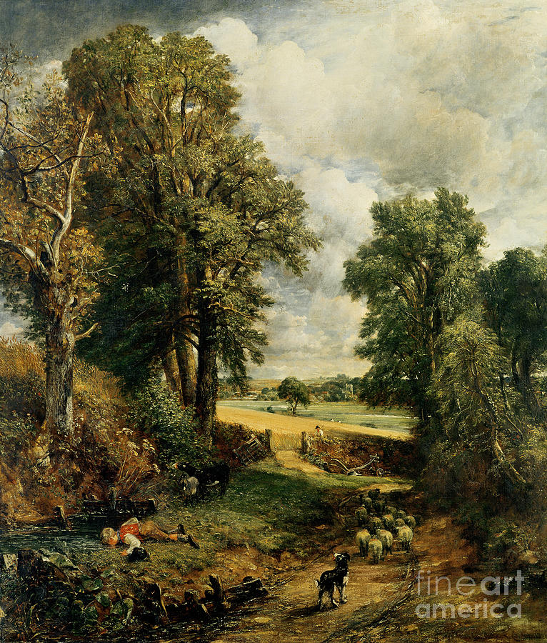 The Painting - The Cornfield by John Constable