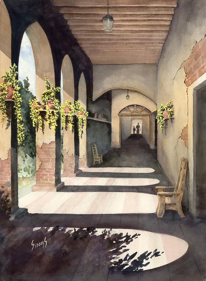 Plants Painting - The Corridor 2 by Sam Sidders