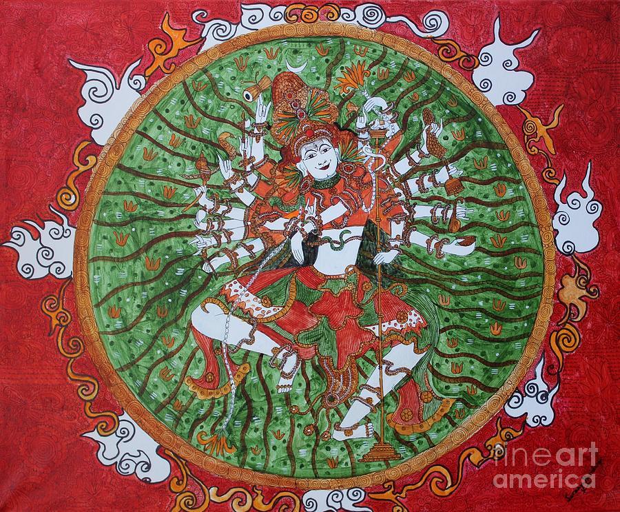 Painting Painting - The Cosmic Dancer by Saranya Haridasan