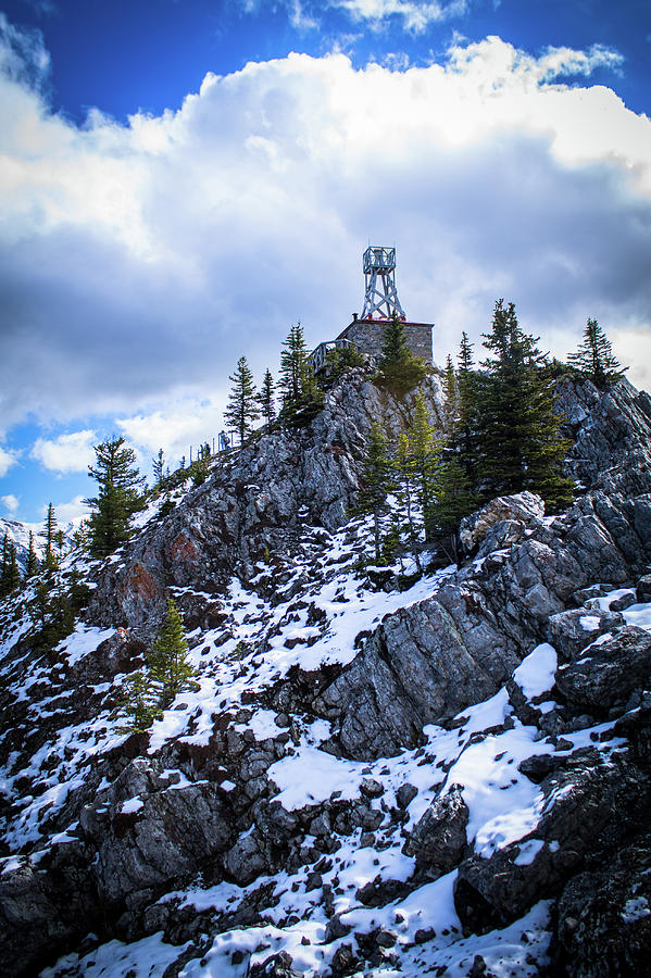 Banff Photograph - The Cosmic Ray Station Atop Sulphur Mountain, Banff, Canada by Alex Rossi