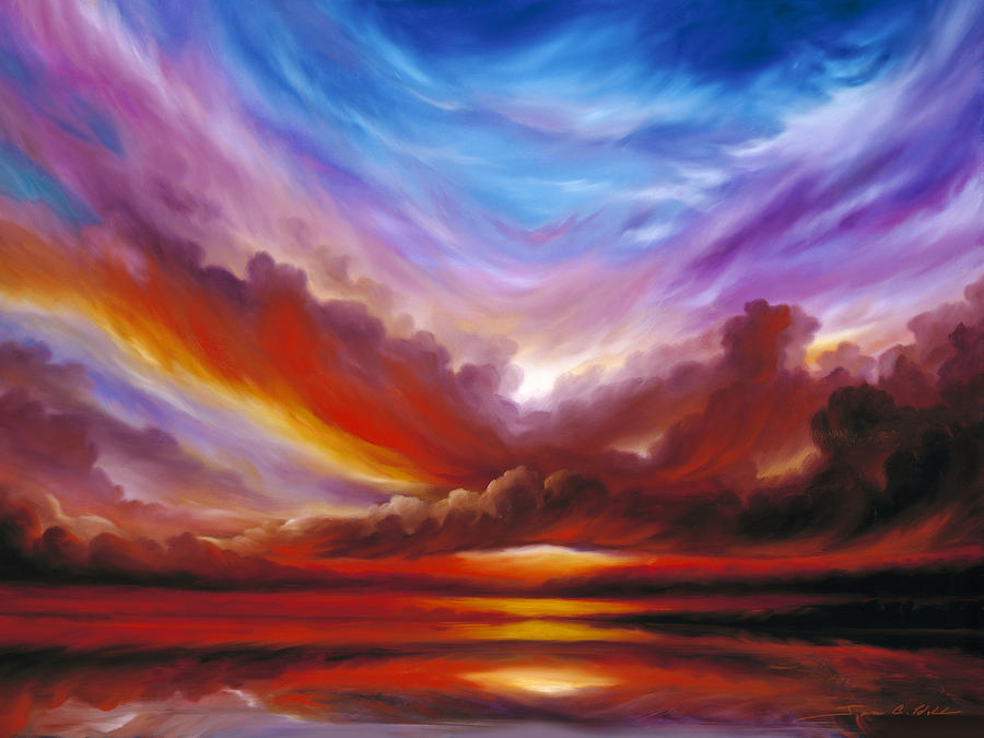 Skyscape Painting - The Cosmic Storm II by James Christopher Hill