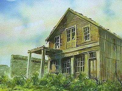Ghost Town Painting - The Cosmopolitan Belmont Ghost Town Nevada by Kevin Heaney