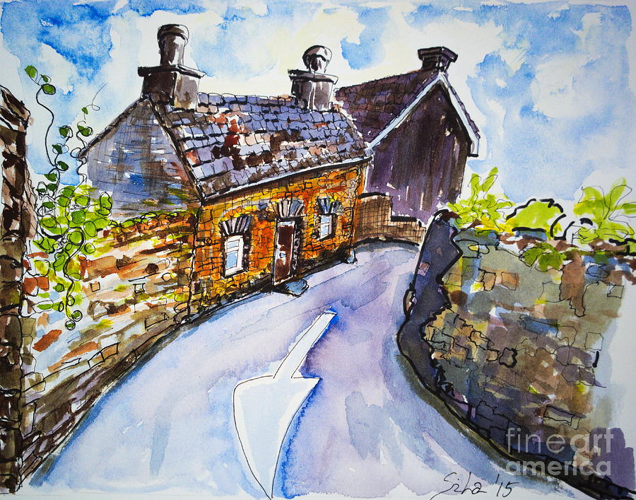Watercolor Painting - The Cottage Kinsale by Lidija Ivanek - SiLa