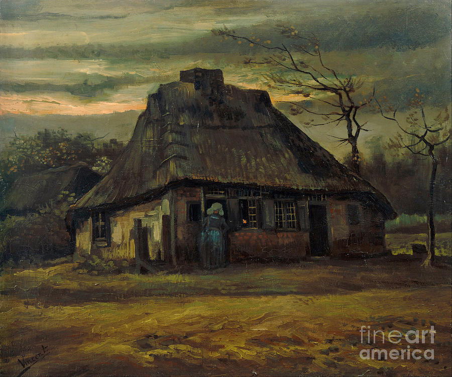 Vicent Painting - The Cottage by Van Gogh