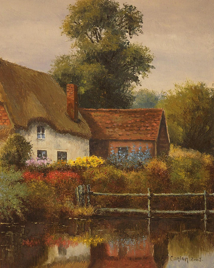 Landscape Painting - The Country Cottage by Sean Conlon