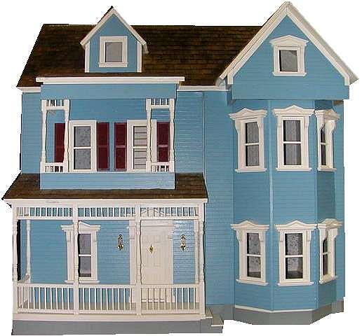 Dollhouse Mixed Media - the Country Victorian House  by Bob DeOrsey