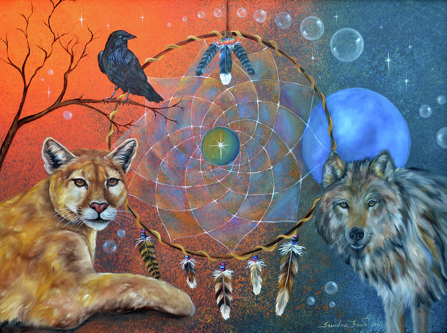 Wolf Painting - The Courage To Be Free by Sundara Fawn