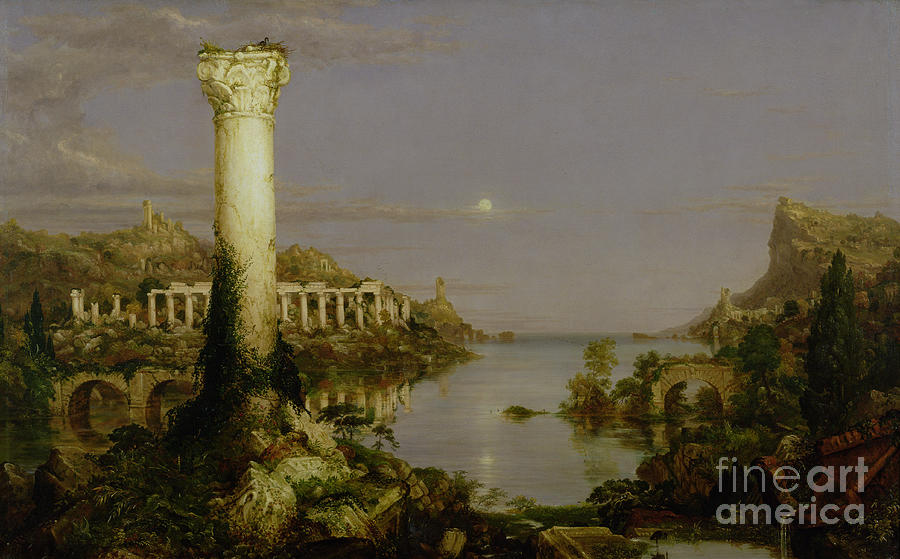 Light Painting - The Course Of Empire - Desolation by Thomas Cole