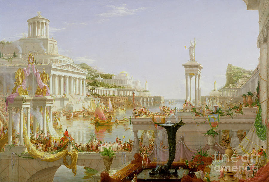 Bridge Painting - The Course Of Empire - The Consummation Of The Empire by Thomas Cole