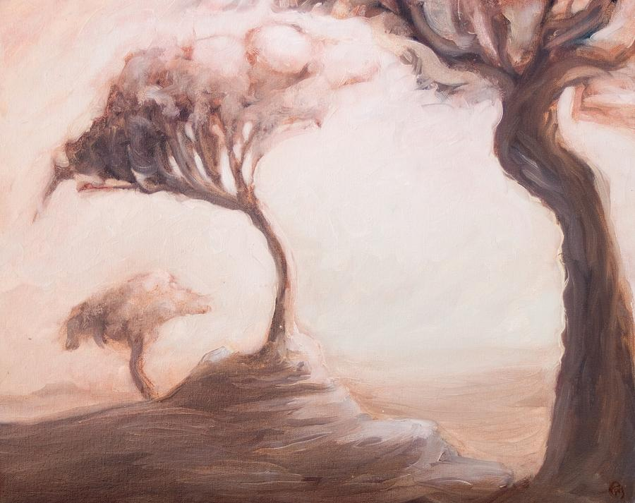 Trees Painting - The Courthouse Doors by Ethan Harris