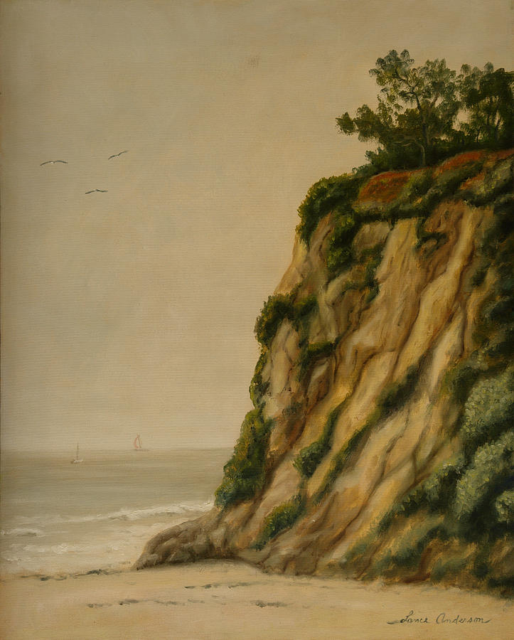Ocean Painting - The Cove by Lance Anderson
