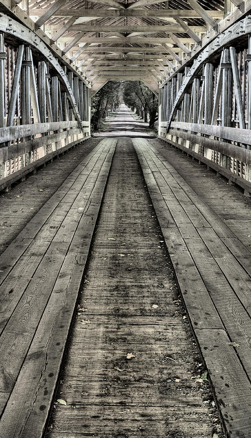 Covered Bridge Photograph - The Covered Bridge by JC Findley