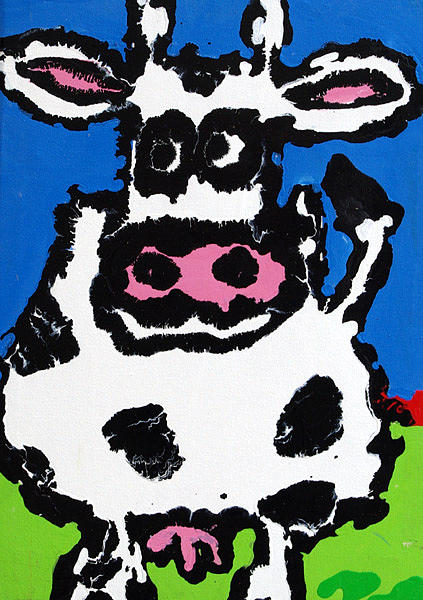 Animal Painting - The Cow by Charles Harrison Pompa
