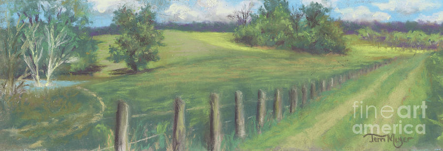 Ohio Landscape Painting - The Cow Path To The Pond by Terri  Meyer