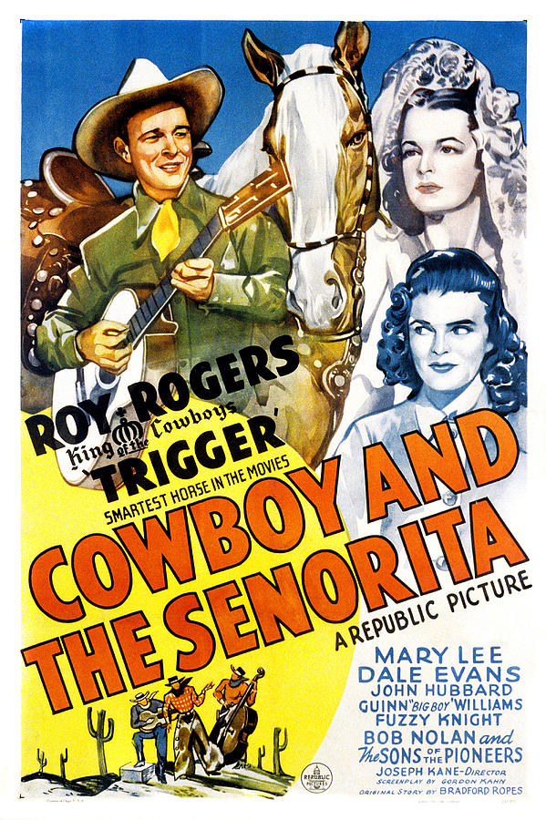 1940s Movies Photograph - The Cowboy And The Senorita, Roy by Everett