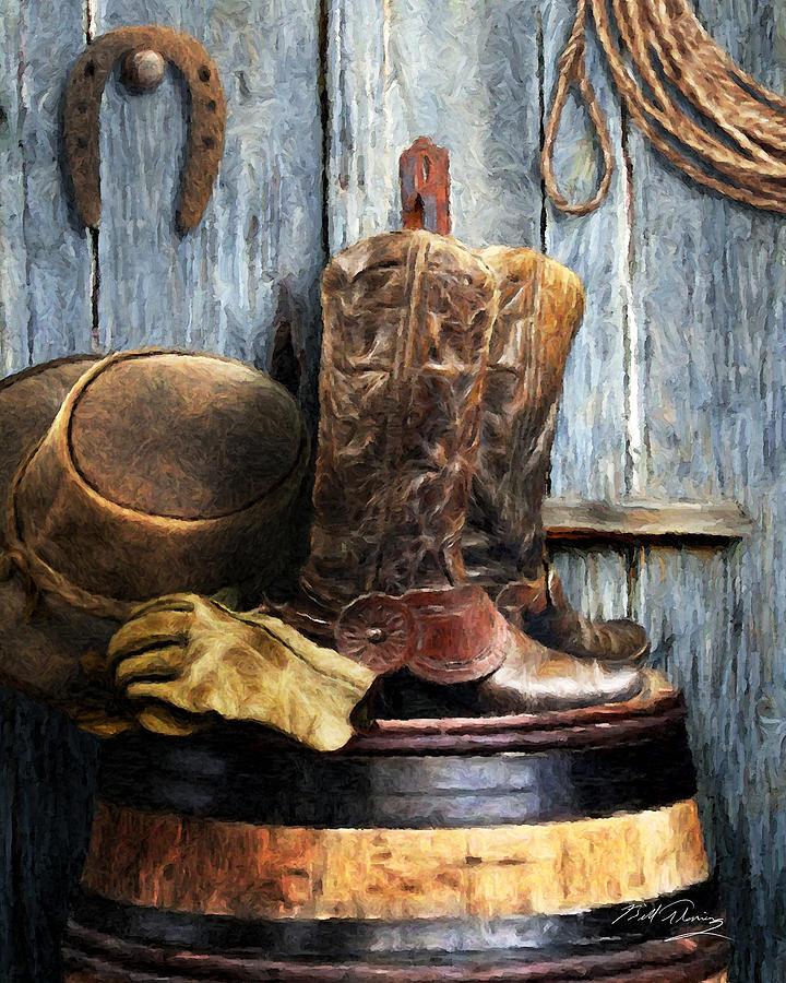 Cowboy Digital Art - The Cowboy by Bill Fleming