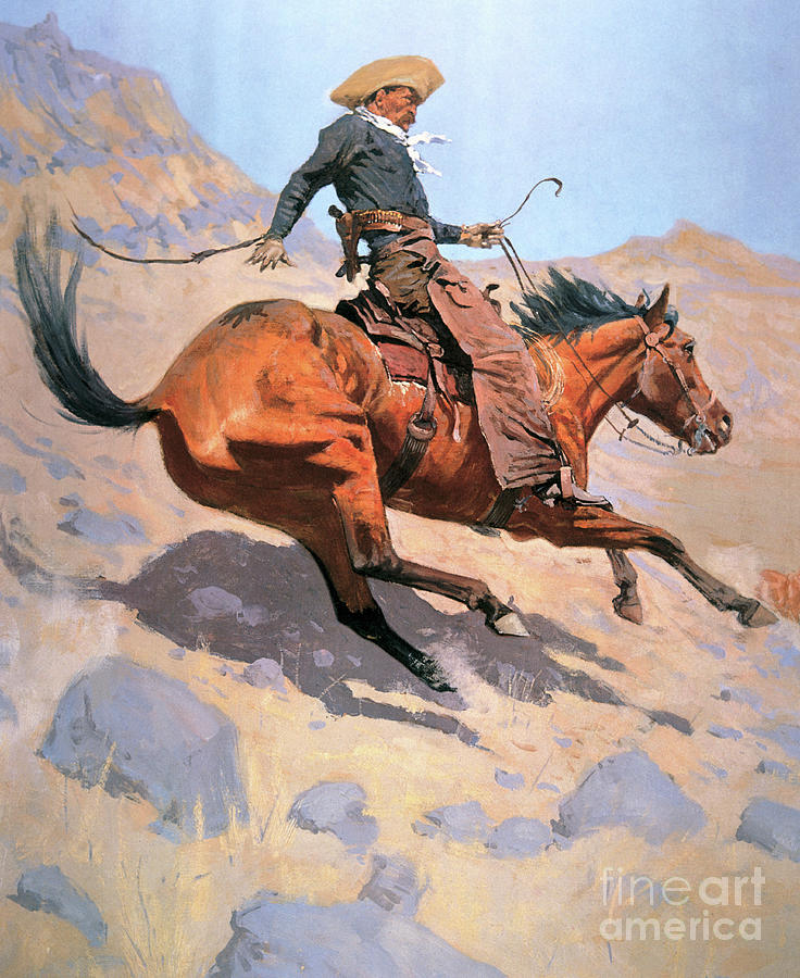 Cowboy Painting - The Cowboy by Frederic Remington