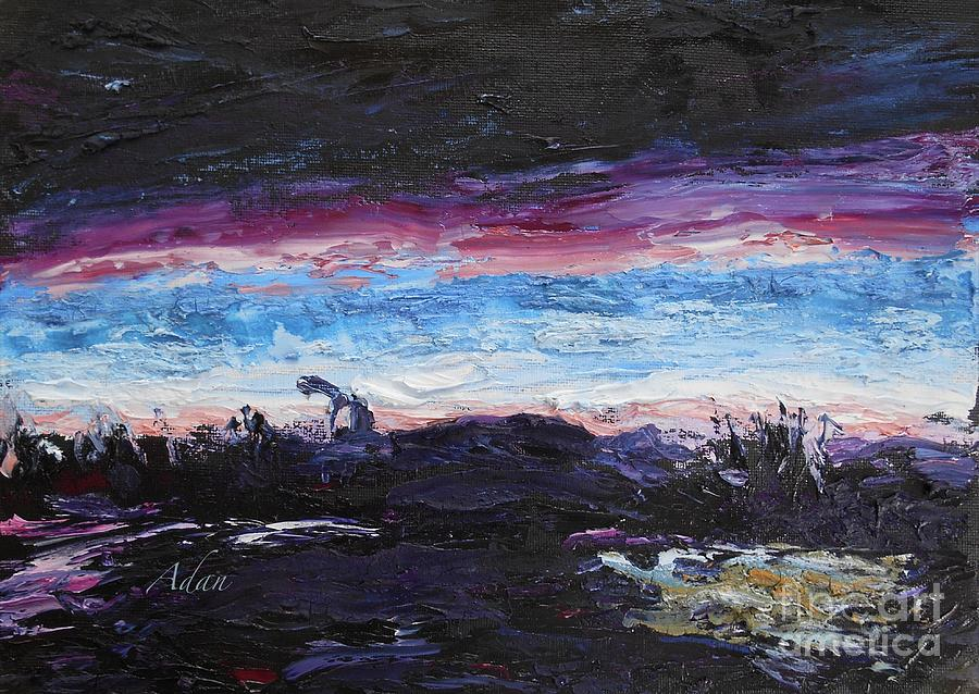 Abstract Painting - The Crack Of Time by Felipe Adan Lerma