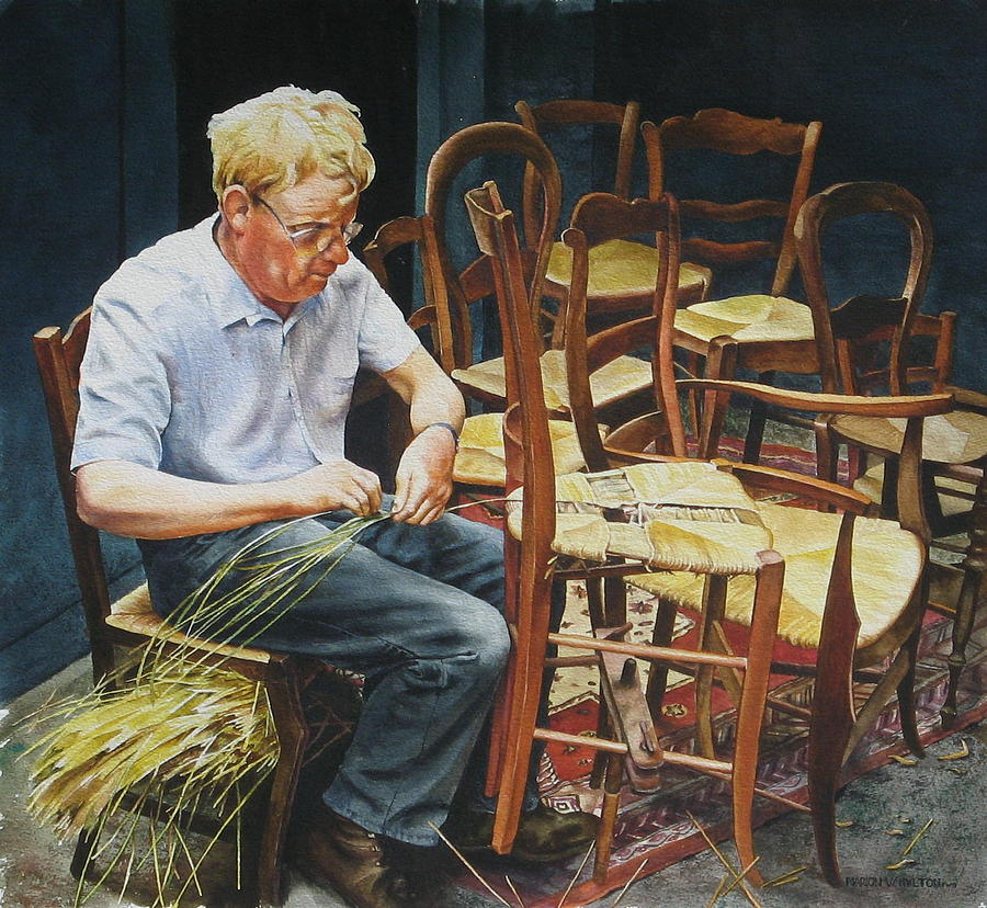 People Painting - The Craftsman by Marion  Hylton