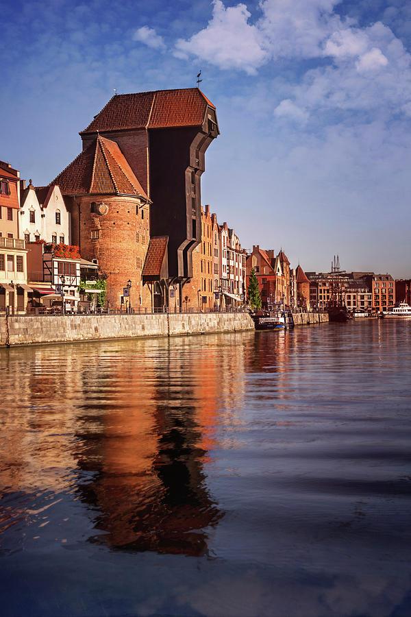 The Crane Motlawa River Gdansk Poland Photograph