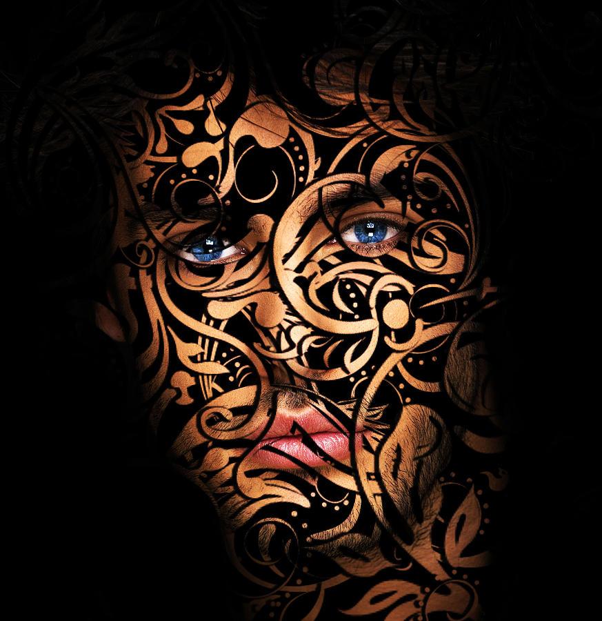 Floral Design Digital Art - The Creation Of Man by Solomon Barroa