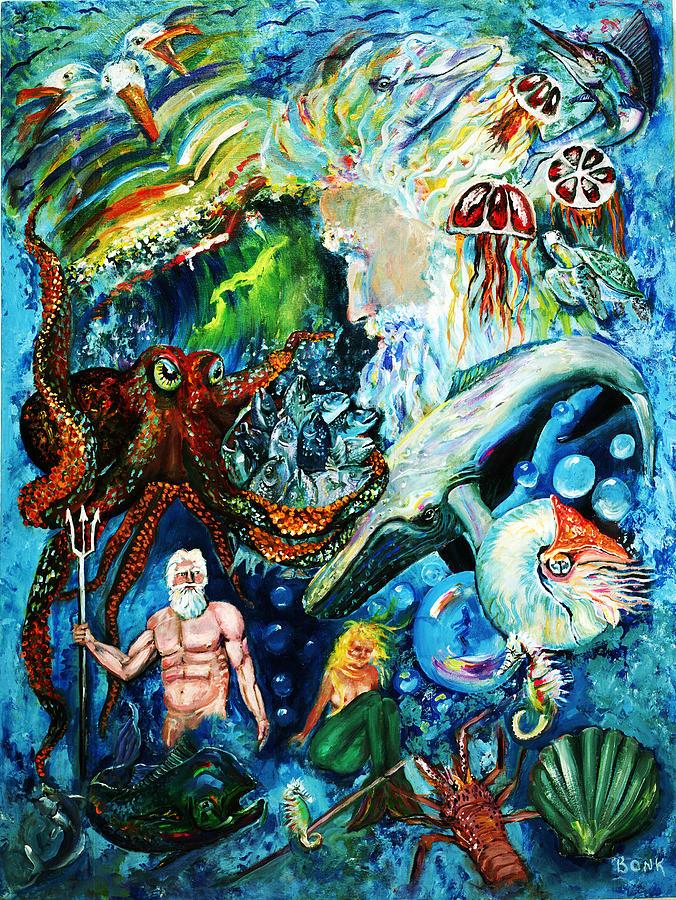 Ocean Painting - The Creation Of The Ocean by Peter Bonk