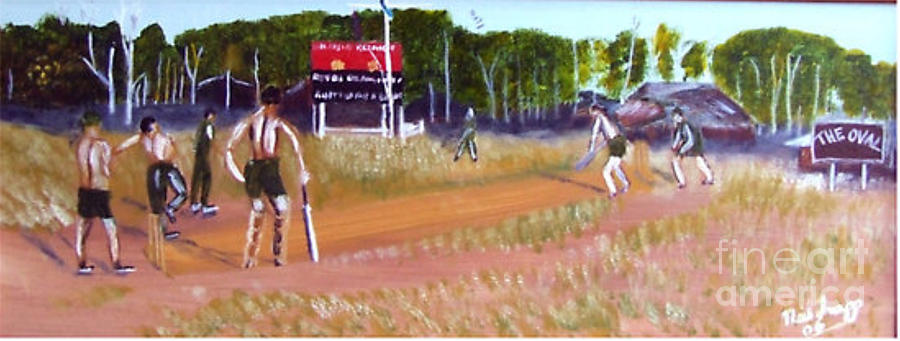 Australian Painting - The Cricket Match by Neil Trapp