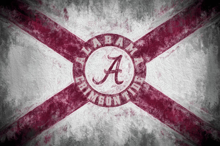 University Of Alabama Photograph - The Crimson Tide State Flag by JC Findley
