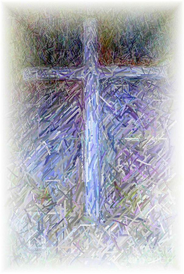 The Cross Digital Art - The Cross by Karen Francis