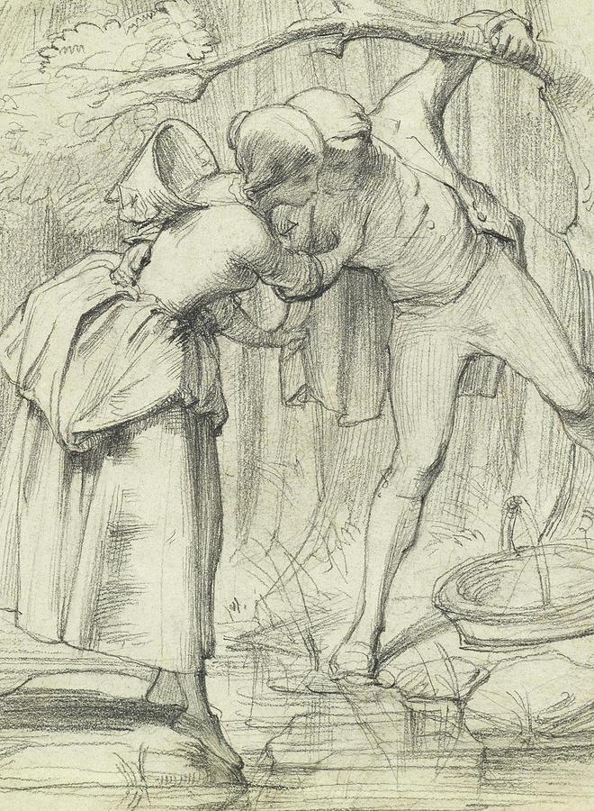 Drawing Drawing - The Crossing by John Richard Clayton