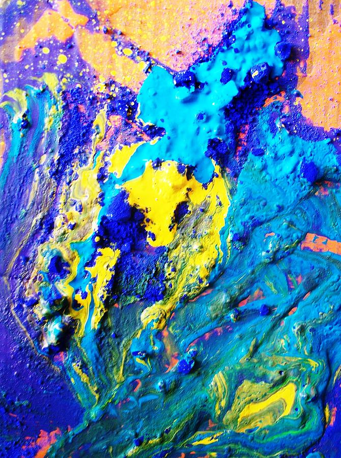 Abstract Painting - The Crucifiction As Seen In Oceans Clif by Bruce Combs - REACH BEYOND