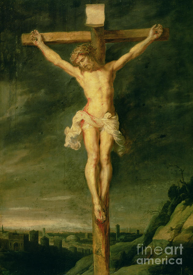 The Crucifixion Painting - The Crucifixion by Rubens