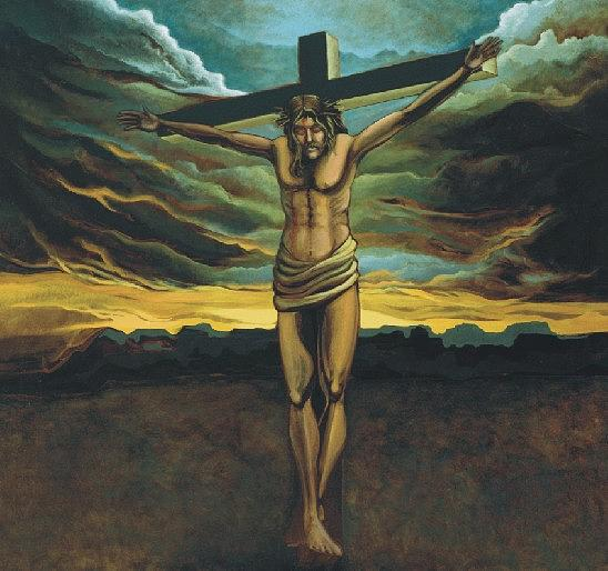 The Crucifixion Painting by Steven Donnini