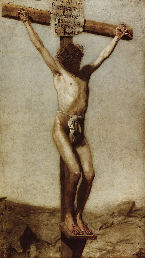 Thomas Eakins Digital Art - The Crucifixion by Thomas Eakins