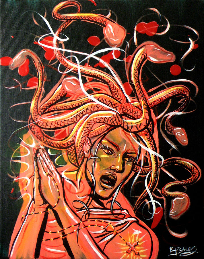 Medusa Painting - The Crumbler Of Hearts by Ericka Bales