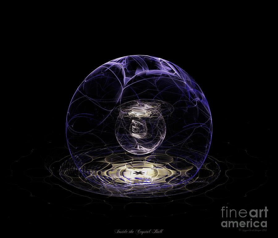 The Crystal Orb Of Seeing Digital Art